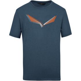 SALEWA Lines Graphic Dry T-Shirt Men, premium navy melange